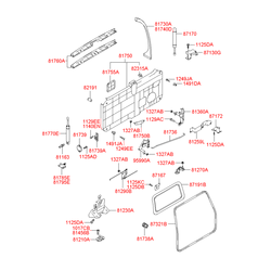 Ручка двери пластмассовая (Hyundai-KIA) 8126026000CA