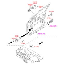 Ручка двери (Hyundai-KIA) 826612W710