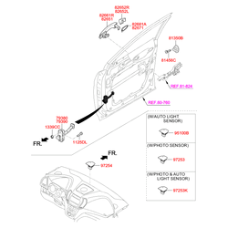 Ручка двери (Hyundai-KIA) 826612W000
