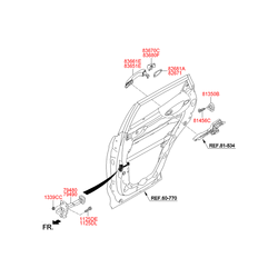 Ручка двери (Hyundai-KIA) 836612W000