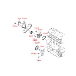 Ролик натяжителя (Hyundai-KIA) 2528727400