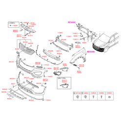 Решётка радиатора (Hyundai-KIA) 86350B8000