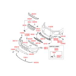 Решетка радиатора (Hyundai-KIA) 865612B010