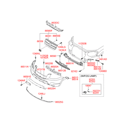 Решетка радиатора (Hyundai-KIA) 865602B020