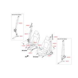 Ремень безопасности, без защелки (Hyundai-KIA) 888102W250NBC