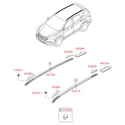 Рейлинг крыши кузова (Hyundai-KIA) 872702W5003F
