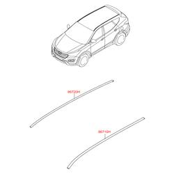 Рейлинг крыши кузова (Hyundai-KIA) 87280B85003F