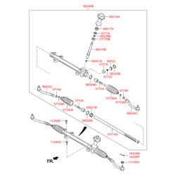 Рейка рулевого механизма (Hyundai-KIA) 577102W100
