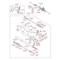 Рейка рулевого механизма (Hyundai-KIA) 5772526200