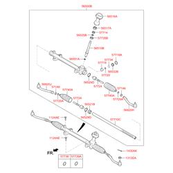 Реечный рулевой механизм (Hyundai-KIA) 565002W300
