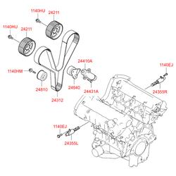 Распредвал двигателя (Hyundai-KIA) 249103E010