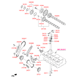 Распредвал двигателя (Hyundai-KIA) 242002F010