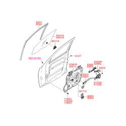 Рамка ручки двери (Hyundai-KIA) 826652B000