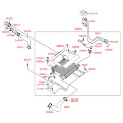 Радиатор охлаждения двигателя (Hyundai-KIA) 2827127800