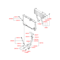 Радиатор охлаждения двигателя (Hyundai-KIA) 2546026510
