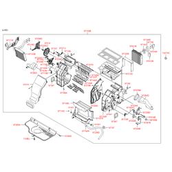 Радиатор отопителя салона (Hyundai-KIA) 971382B000