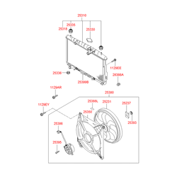 Радиатор (Hyundai-KIA) 2531026070
