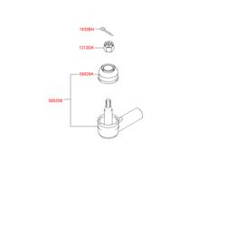 Пыльник шаровой опоры (Hyundai-KIA) 5682828000