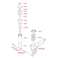 Пружина ходовой части (Hyundai-KIA) 5535026210