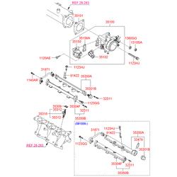 Прокладка клапана регулятора холостого хода (Hyundai-KIA) 3515633271