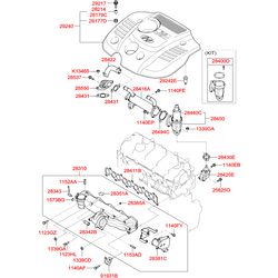 Прокладка выпускной системы (Hyundai-KIA) 2849227000