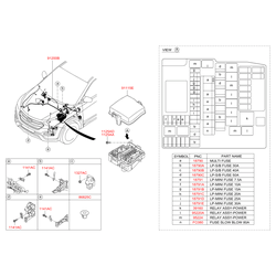 Проводка моторного отсека (Hyundai-KIA) 912042W230