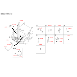 Проводка моторного отсека (Hyundai-KIA) 918412W190