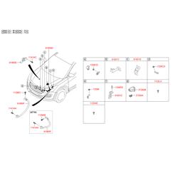Проводка моторного отсека (Hyundai-KIA) 918412W461