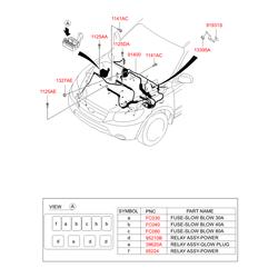 Проводка моторного отсека (Hyundai-KIA) 914152B991