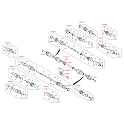 Приводной вал передней оси (Hyundai-KIA) 495602W050