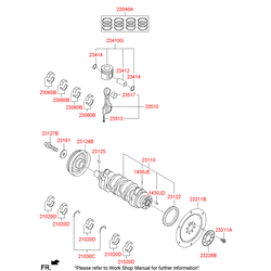 Подшипник скольжения шатуна, d=45mm (Hyundai-KIA) 230602F930