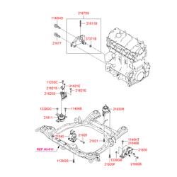 Подушка двигателя передняя (Hyundai-KIA) 219102B100