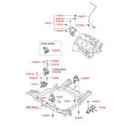 Подушка двигателя (Hyundai-KIA) 218112B000