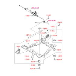 Подрамник моторного отсека (Hyundai-KIA) 6240126710