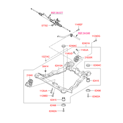 Подрамник моторного отсека (Hyundai-KIA) 6240126000