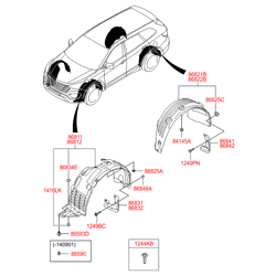 Подкрылок передний левый (Hyundai-KIA) 86811B8000