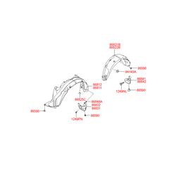 Подкрылок (Hyundai-KIA) 868702B000