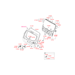 Пластиковая направляющая багажной двери (Hyundai-KIA) 8173926000