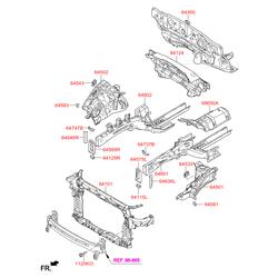 Передняя рама кузова (Hyundai-KIA) 641012W000