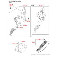 Педаль акселератора (газа) (Hyundai-KIA) 327102B100