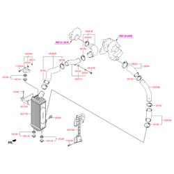 Патрубок системы охлаждения (Hyundai-KIA) 282632F700