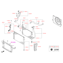 Патрубок резиновый (Hyundai-KIA) 254112W800