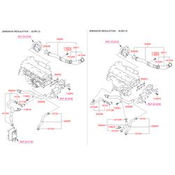 Патрубок двигателя резиновый (Hyundai-KIA) 256502F000