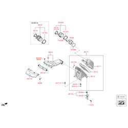 Патрубок воздушного фильтра (Hyundai-KIA) 281302W300