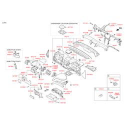 Панель центральной консоли салона (Hyundai-KIA) 847672W100RYN