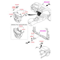 Панель управления отопителем салона (Hyundai-KIA) 972502W4504X