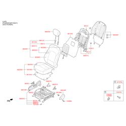 Панель спинки сиденья (Hyundai-KIA) 883912W000NBC