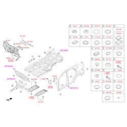 Панель пола кузова (Hyundai-KIA) 842152W000