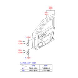 Панель передней двери (Hyundai-KIA) 7600326101