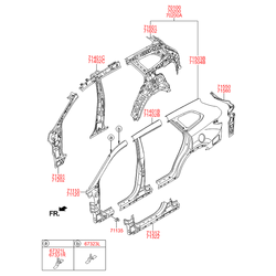 Панель кузова (Hyundai-KIA) 71601B8200